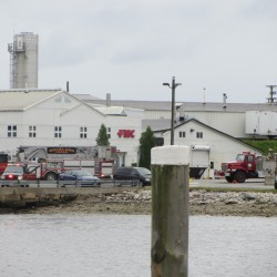 Sprinklers help put out fire at Rockland plant