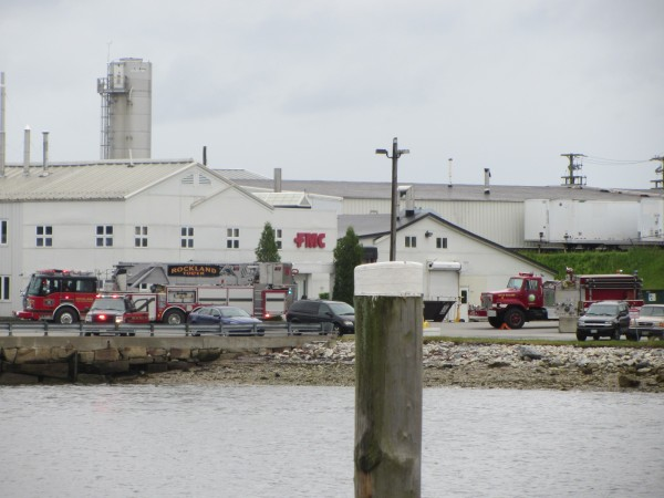 Rockland fire crews responded Wednesday afternoon to an electrical fire in a laboratory at FMC Bipolymer's plant.