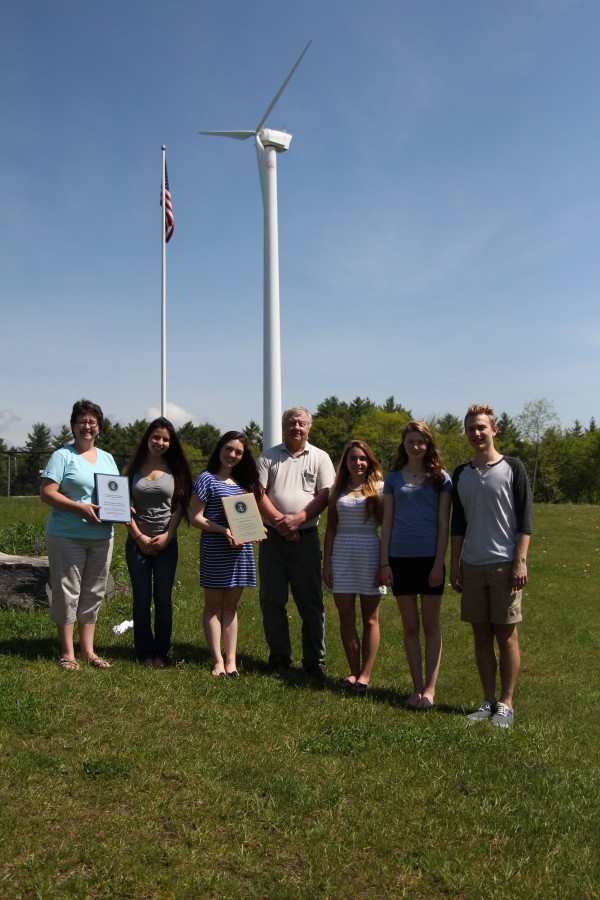 Camden Hills Regional High School students and staff going to Sweden for the Volco Project Adventure World Finals are (from left) adviser Margo Murphy, Maya Sosland, Anna Mynick, adviser Keith Rose, Chelsea Hunter, Kiera Haining and Eliot Grigo.