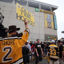 First-place Red Sox get swept up in Bruins fever