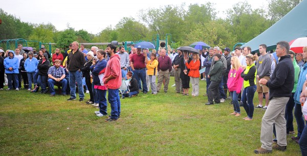About 250 people came to the ceremony celebrating the life of Dacano Arno at the Kiwanis Park in Dover-Foxcroft Friday afternoon. Dacano died earlier this week in a swimming accident.
