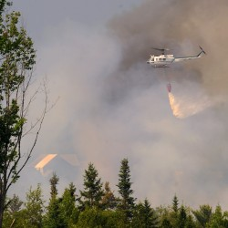 Hudson wildfire contained to less than 1.5 acres, ranger says