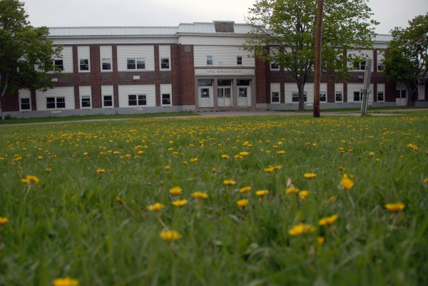 A Millinocket minster and developer from Augusta have both come forward with proposals for the shuttered Opal Myrick Elementary School in East Millinocket, seen here on May 15.