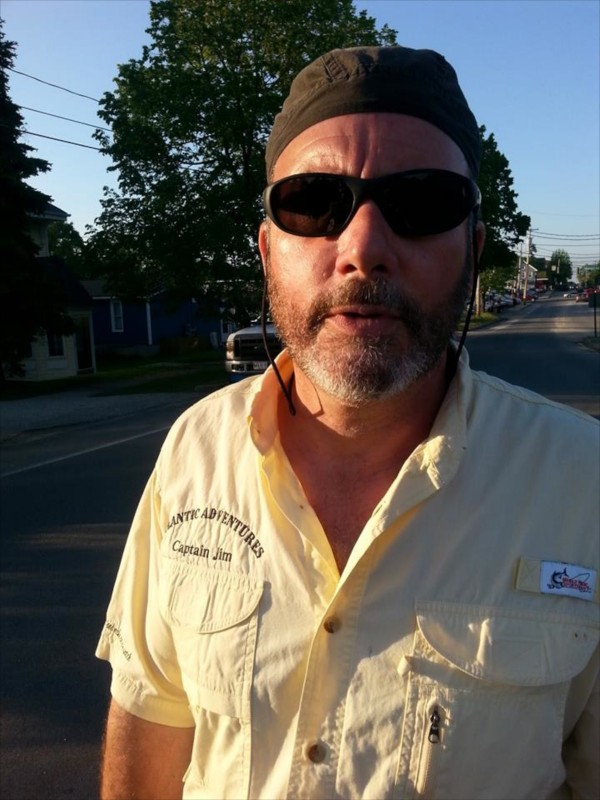 Jay Riley of Portland reportedly took this picture of Capt. Jim Harkins of Atlantic Adventures as he verbally harassed Riley, a bicyclist, on Monday.