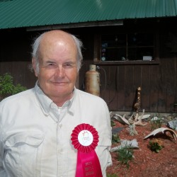 Charles Baker with his 2013 Maple Producers Award