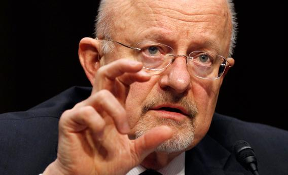 U.S. Director of National Intelligence James Clapper testifies at a Senate hearing on Jan. 31, 2012.
