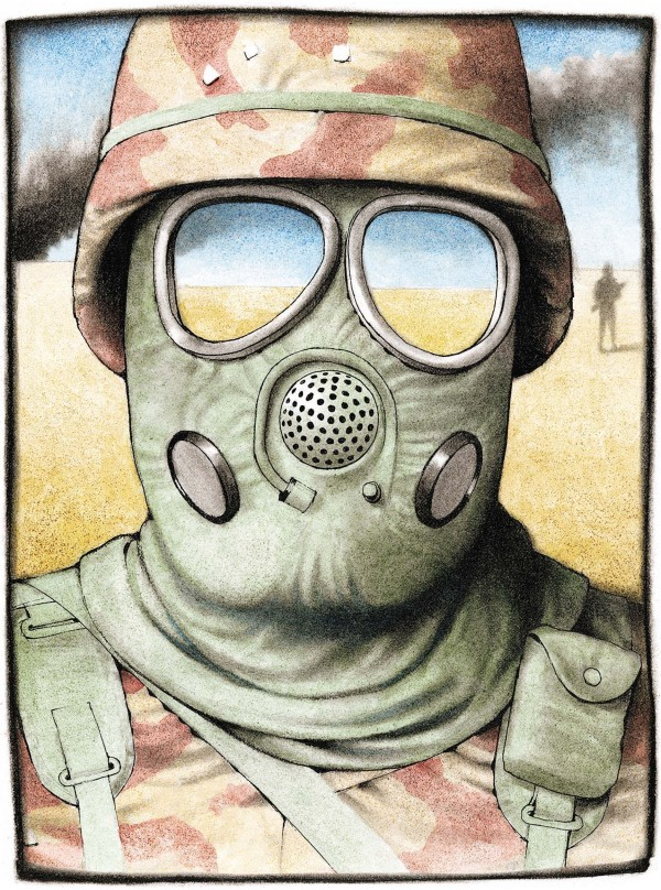 Chemical gas mask.