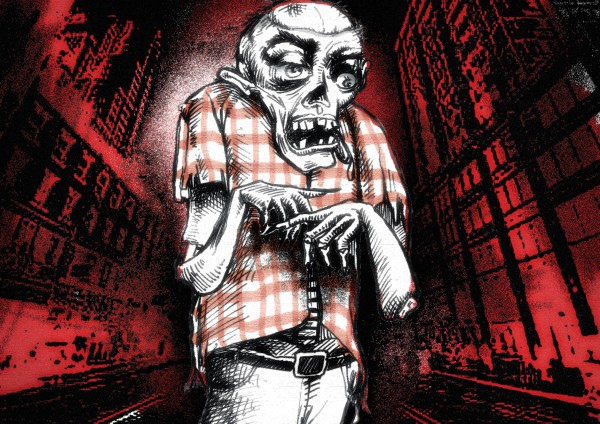 Reuben Munoz illustration of zombie.