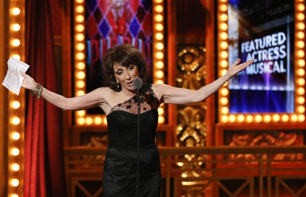 Actress Andrea Martin accepts the award for Best Performance by an Actress in a Featured Role in a Musical for &quotPippin&quot during the American Theatre Wing's annual Tony Awards in New York June 9, 2013.