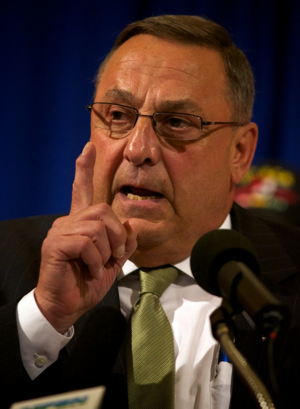 AUGUSTA, MAINE -- Governor Paul LePage renewed his pledge to veto the state budget at an Americans for Prosperity  rally at the State House in Augusta on June 20. He vetoed the budget on Monday.