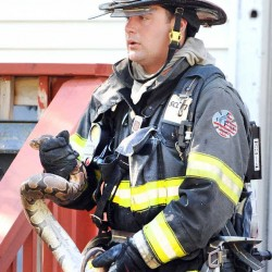 Polish cadet trains with Auburn Fire Department