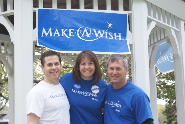 Photo courtesy of Walk for Wishes Volunteer Walk For Wishes committee members (from left) Pat Gaetani, Colette Sabbagh, Walk chairwoman, and Tom Higgins attended the recent Bangor fundraising event that raised more than $10,000 for Walk for Wishes.