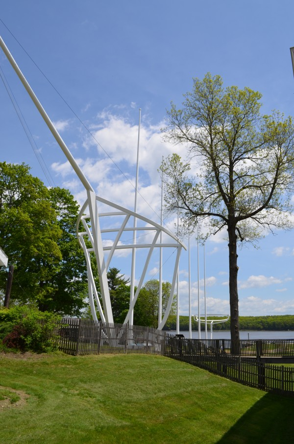 Spanning 450 feet and reaching nearly six stories tall, the evocation Wyoming at Maine Maritime Museum in Bath is the largest outdoor sculpture in New England.