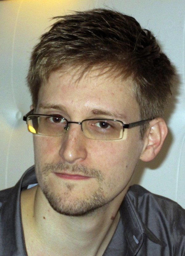 U.S. National Security Agency whistle-blower Edward Snowden, an analyst with a U.S. defense contractor, is pictured during an interview with the Guardian in his hotel room in Hong Kong on Sunday.