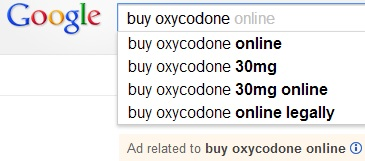 A Google search for &quotBuy oxycodone.&quot