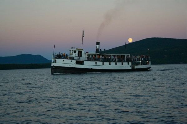 The Kate sails under the full moon during one of their famous summer Rock n Roll cruises. Talbot photo