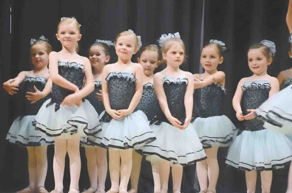 Young ballerinas perform during a recent recital.
