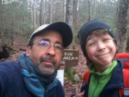 Paul and Asher Molyneaux on the Appalachian Trail, courtesy of Paul Molyneaux