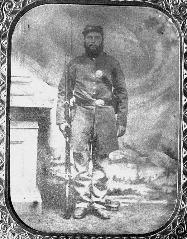 Philip Souder Holmes of Stockton Springs joined Co. K, 26th Maine Infantry Regiment and experienced combat in Louisiana in 1863. This photograph was published in the history of the 26th Maine.