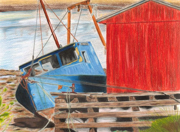 &quotTaking 5&quot, a colored pencil drawing by Dan Butler
