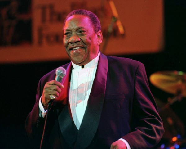 Blues singer Bobby &quotBlue&quot Bland, 68, performing at the Blues Foundation fourth annual Lifetime Achievement Awards at the House of Blues in Hollywood, in this file photo taken November 9, 1998. Bland, a pioneer of the modern soul-blues sound, died on Sunday, according to Memphis media reports. He was 83.