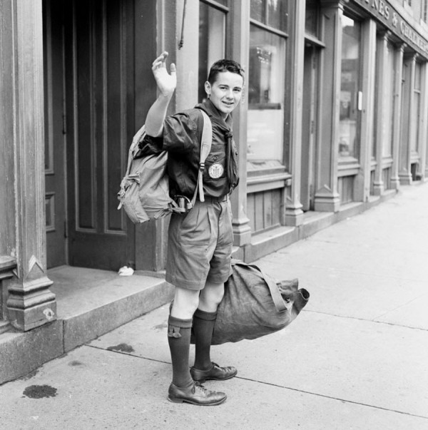 Fred Bishop Otto, 16, bade farewell to Bangor with a wave of his hand on Thursday, July 5, 1951 as he set out on a trip that will take him first to a Scout camp in Connecticut, then to Africa and Europe. He will attend the Boy Scout World Jamboree in Austria. He was taken to Connecticut by his parents, Mr. and Mrs. Carl Otto of Orono. Otto became a Scout in 1947, a Star Scout and Life Scout in 1948, and an Eagle Scout in 1949.