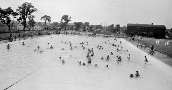 &quotC'mon in, the water's fine,&quot said these Brewer youngsters Friday afternoon, July 13, 1956, as they cooled off in the Brewer municipal pool. Nearly 400 children and adults used the pool Friday, according to attendants.