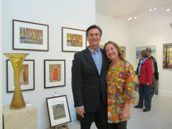 Bruce Busko and Roberta Baumann of the Landing Gallery in Rockland say Rockland has become one of the premier arts centers in New England.