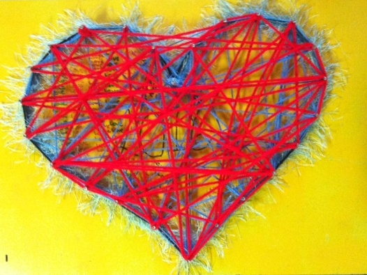 This heart was created by an ArtVan Brunswick youth artist.