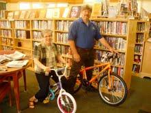 Chris Vigue of Mt Olivet Lodge #203 in Washington and Hazel Kopishke of Gibbs Library