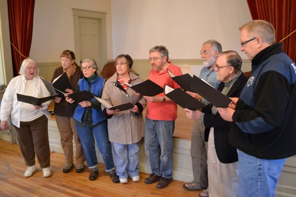 The &quotSteeple Singers&quot choir practice. 