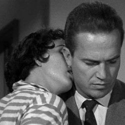 Maxine Cooper and Ralph Meeker star in KISS ME DEADLY
