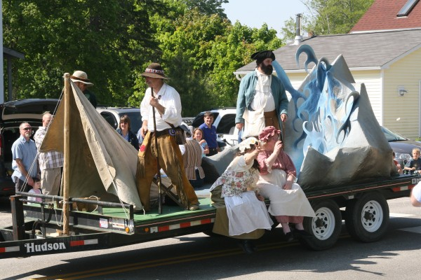 More than 4,000 people lined US Route 1 to watch the parade, which featured floats depicting Machias's past.