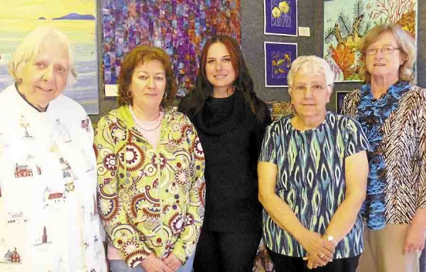 Maine by Mainers, a shop that sells handcrafted items by Maine artists and artisans, which opened recently at 96 Harlow St. in Bangor, benefits at risk teenagers in Down East Maine. Board members are (from left) Oonah Ryan of Veazie, Nancy Waldron of Newburgh, Marilyn Rozelle of Lagrange, Rosalita Feero of Eddington, and Cathy Goslin of Veazie.