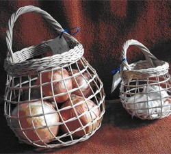 Onion baskets such as these will be made in classes offered at Wilson Museum in Castine.