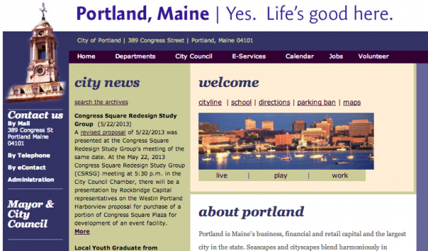 Portland's website already contains the city's new slogan.