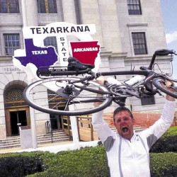 Comedian embarks on bicycle trip to Texas