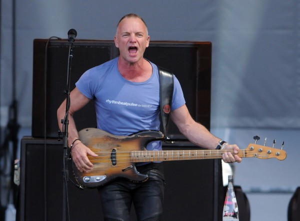 Sting performs as part of this Back to Bass tour at the Darling's Waterfront Pavilion on Thursday.