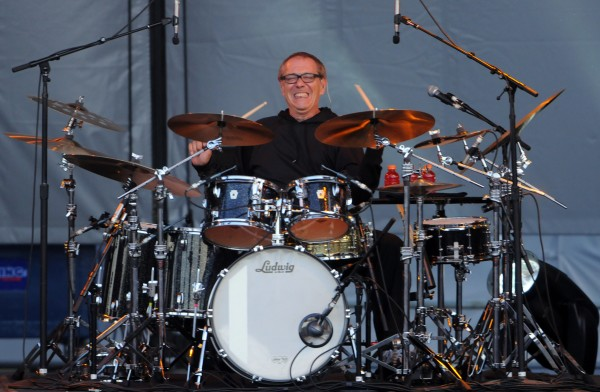 Sting's drummer Vinnie Colaiuta performs as part of Sting's Back to Bass tour at the Darling's Waterfront Pavilion on Thursday.
