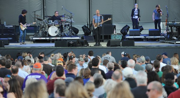 Sting and his five-piece band performs as part of his Back to Bass tour at the Darling's Waterfront Pavilion on Thursday.