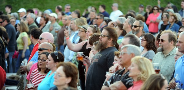 A mixed-age audience takes in Sting as he performs as part of this Back to Bass tour at the Darling's Waterfront Pavilion on Thursday.