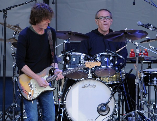 Guitarist Dominic Miller and drummer Vinnie Colaiuta back up Sting  as he performs as part of this Back to Bass tour at the Darling's Waterfront Pavilion on Thursday.