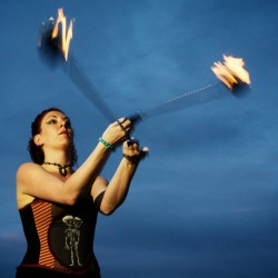 Fire performances can continue as Portland considers how to regulate street artists