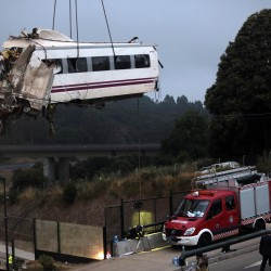 Spanish train crash driver leaves hospital, remains in custody