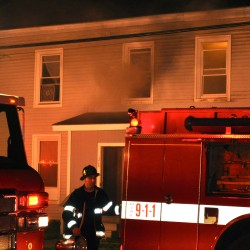 Apartment house fire in Brewer displaces six adults, three children