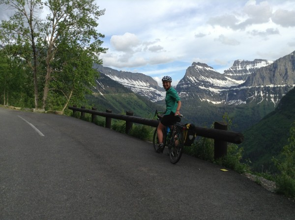 Sarah Hart recently cycled through Glacier National Park in Montana during a cross-country ride.