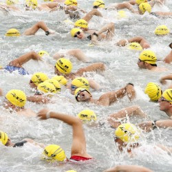 Youngsters run, bike and swim in increasingly popular kid triathlons