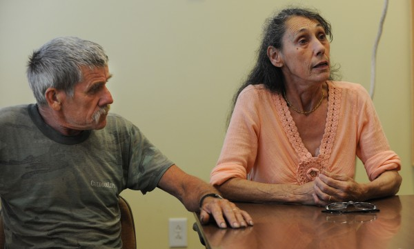 Roger and Roxanne Ewer of Charleston talk about their grandson who was beaten by inmates at the Mountain View Youth Development Center in Charleston on Sunday afternoon and suffered a broken jaw.