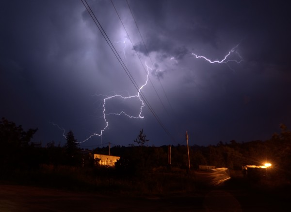 Photo of the thunderstorms the weekend of July 20, 2013, taken in Bangor, Maine by Eric Straseburgh.