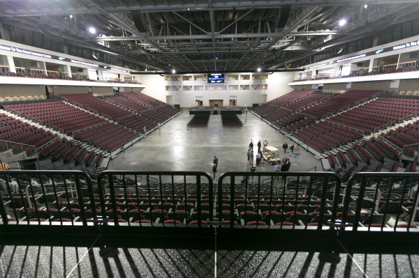 The finished interior of the Cross Insurance Center is shown Tuesday, June 4, 2013.